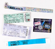 KISS Tickets and Wrist Bands - Set of 4