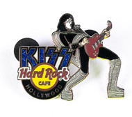 KISS Hard Rock Cafe Pin - Ace Destroyer guitar Hollywood