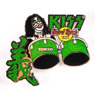 KISS Hard Rock Cafe Pin - Peter green kanji drums Tokyo