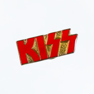 KISS Pin - Logo Red and Gold