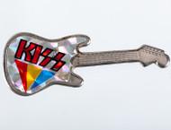KISS Pin - Vintage Guitar Logo Prism
