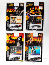 KISS Johnny Lightning Cars - Dragster Cars, Set of 4, (cards #50, 3, 43 and 30)