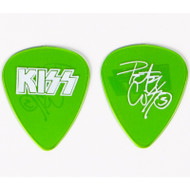 KISS Guitar Pick - Peter Criss Farewell 2000 Tour (light green)