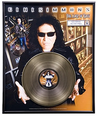 "Gene Simmons Gold Record - ""Lord of Rock"" LP"