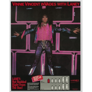 Vinnie Vincent Poster Laney Amp Ad Kiss Museum