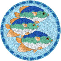 Small Mosaic Tropical Fish