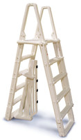 Premium A-Frame Above Ground Pool Ladder - Taupe (NE120T)