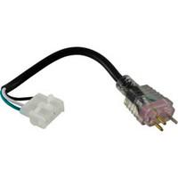 """Hydro Quip Adapt Cord 6"""",Lt. Violet Plug/Amp Recept - 30-1190-L6"""