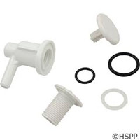 "Waterway Plastics Lo Pro Injector 3/8"" Barb Elbow Style, White - 670-2200"
