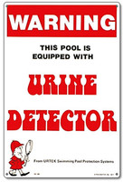 Pool & Spa Sign - Urine Detector  - 41350