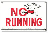 Pool Safety Sign - No Running - 40312