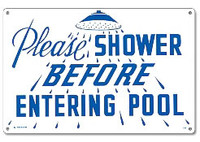 Pool Sign - Please Shower - 40320