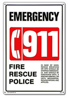 Pool & Spa Safety Sign - 911 Emergency - 40331