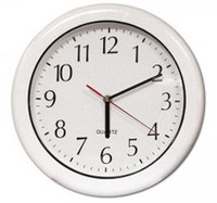 "12"" Outdoor Clock - White"