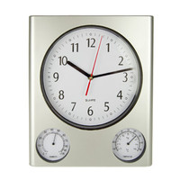 "12.5"" Clock/Thermometer/Hygrometer - Silver"