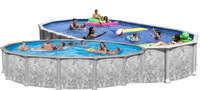 "54"" Deep Deluxe 8000 Galvanized Steel Above Ground Pool Kit"