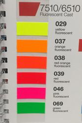 "Oracal 7510 Series Fluorescent Premium Cast 15"" x 10yds"