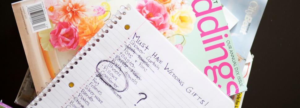 Wedding Registry Bedding