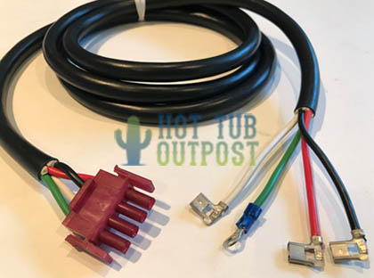 Spa Control Pack Accessory Aux Cord AMP Plug Connector 3 Wire Pin 30-1002A