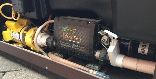 coast spa yellow pump