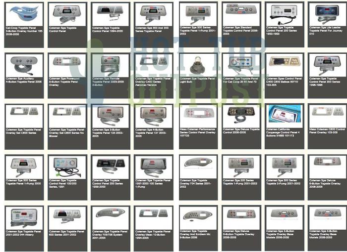 Coleman Spa Parts Online