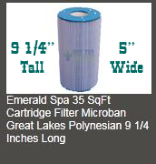 emerald spa 35 sqft filter usa