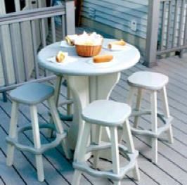 Gray outdoor resin table