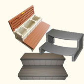 Discount hot tub spa steps online for your hot tub.