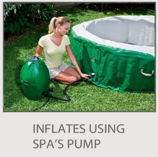 inflate with spa pump