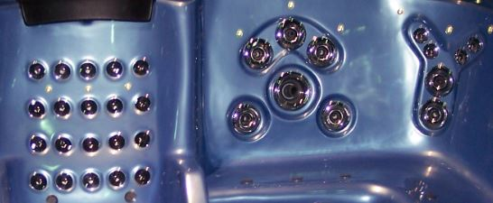 Hot tub spa replacement jets and jet inserts.