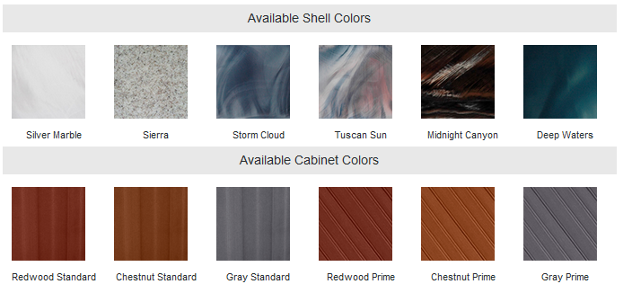 shell and cabinet colors QCA 2018