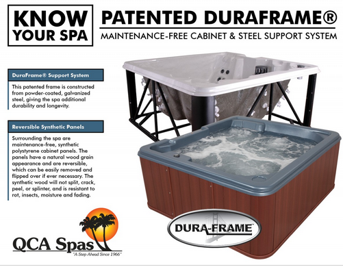 steel frame spas
