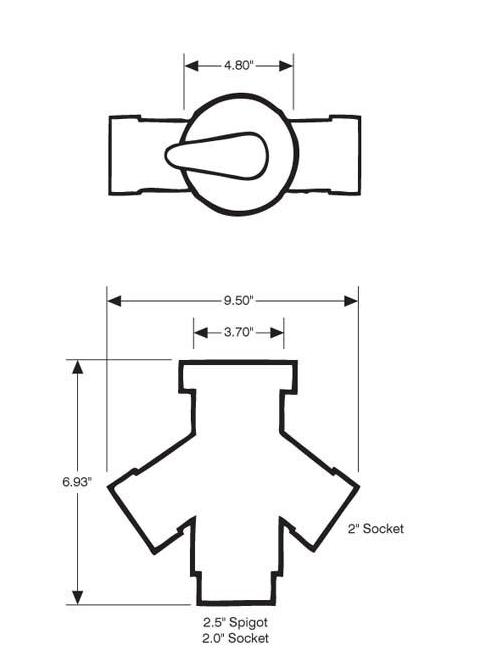 pentair balboa diverter valve body 90004400 top access
