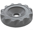 gray valve cap scalloped design top access