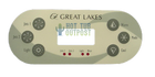 Great Lakes VL600 6 Button Control Panel Overlay Emerald Spa