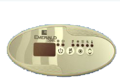 Emerald Spa IN.K259 4 Button Control Panel w Blower Emerald Overlay