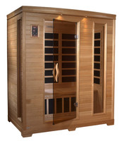 BL 6444 premium infrared sauna for up to 3 persons.
