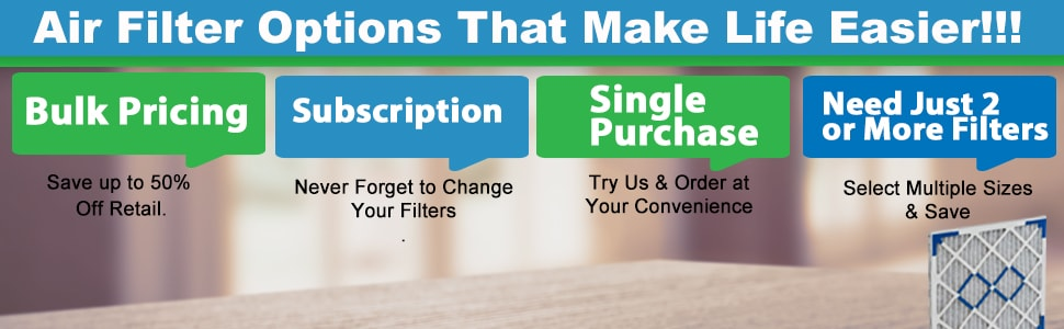 Bulk and subscription Air Filters