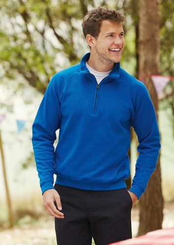 Fruit of the Loom Classic Zip Neck Sweatshirt SS17