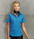 Ladies Short Sleeve Poplin Blouse - Premier PR302