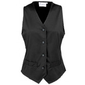Ladies Hospitality Waistcoat Black