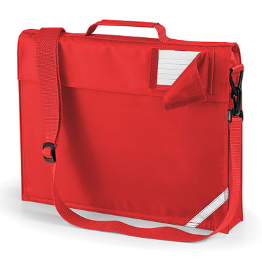 School Book Bag with Strap Bright Red