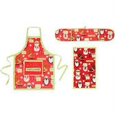 Merry Christmas Set (Double oven glove, Apron, Tea towel)