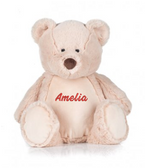 Bear personalised with name.