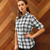 Premier Ladies Ginmill Check Long Sleeve Shirt - PR354