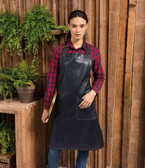 Premier Faux Leather Bib Apron - PR139