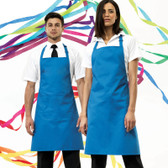 Premier Bib Apron with pocket in sapphire