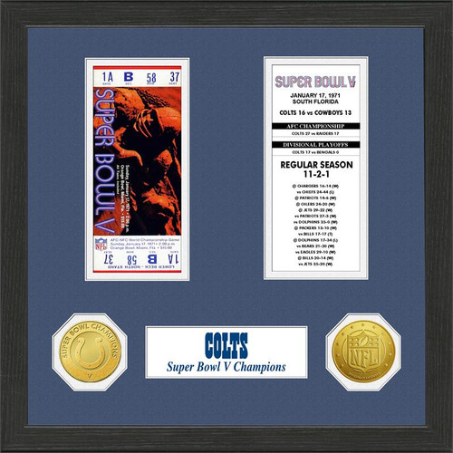 Baltimore Colts Super Bowl Ticket Collection Plaque