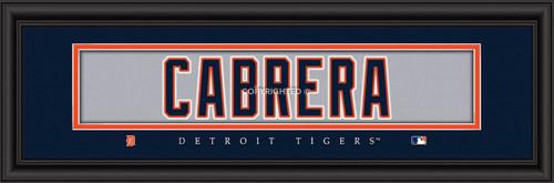 """Detroit Tigers Miguel Cabrera Print - Signature 8""""x24"""""""