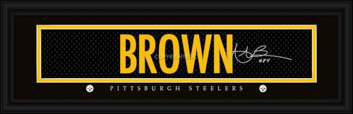 "Pittsburgh Steelers Antonio Brown Print - Signature 8""x24"""
